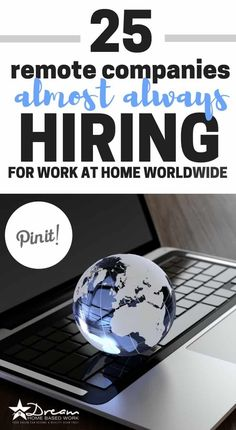 Business Ideas Discover Nationwide Work from Home Jobs: 25 Remote Companies Hiring Now! 25 Remote Companies Almost Always Hiring for Work at Home Nationwide Work From Home Companies, Work From Home Opportunities, Work From Home Jobs, Business Opportunities, Online Jobs From Home, Work From Home Canada, Legit Work From Home, Career Options, Employment Opportunities