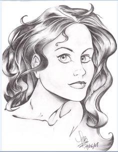 """""""Una Simple Chica"""" Un retrato entre Manga & Comic de una chica."""