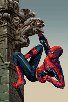 #Spiderman #Fan #Art. (Spidy hanging around) By: Spidey0318 aka Omi Remalante Jr. AWESOMENESS!!!!.