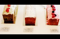 Yummy cakes at Rose Bakery Tea Room, Bon Marché, Paris!