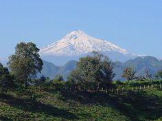 Snowy mountain in Cordoba, Mexico. Coffee farms everywhere!