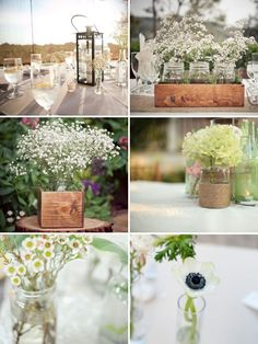 I love everything about this! Mason jars in those little wooden planter boxes from IKEA. Brilliant.