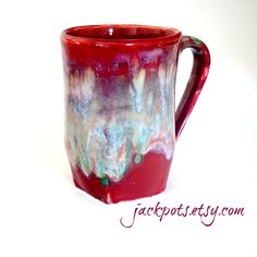 Luscious Glazing Pottery Mug Handmade Coffee Cup Handbuilt