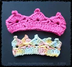 Crocheted Crown For Child - Easy & Free Pattern Crochet Crown Pattern, Crochet Baby Hat Patterns, Crochet Cardigan Pattern, Baby Girl Crochet, Crochet Baby Hats, Knit Or Crochet, Crochet For Kids, Single Crochet, Free Pattern