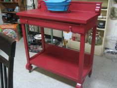 VINATGE RED SIDEBOARD $159