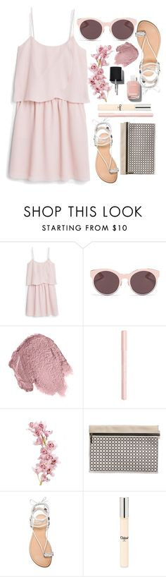"""Dresses..."" by grinevagh ❤ liked on Polyvore featuring MANGO, Christian Dior, Anna Sui, Bourjois, Victoria Beckham, Stuart Weitzman, Chloé and Chanel"