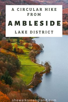 This circular hike takes you from Ambleside to Loughrigg Tarn and Elterwater in the Lake District in England. Ambleside Lake District, Lake District Walks, Peak District, Cool Places To Visit, Places To Travel, Cornwall England, Yorkshire England, Yorkshire Dales, Hiking Routes