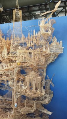 If you bumped into this TOOTHPICK structure, you destroy 37 years of work. Epic, awesome, unbelievable work. Made with toothpicks!