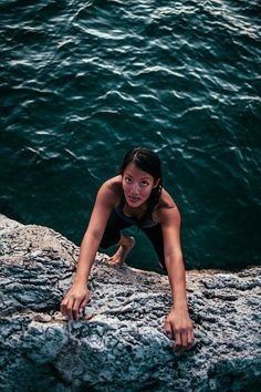 I haven't looked at the list yet, but I am in love with this photo. I plan to go water free solo one day.