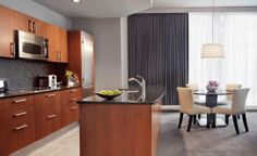 Trump Tower Grand deluxe one bedroom suite with kitchen. We'll be eating in in the morning.