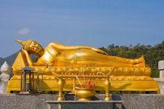 Reclining Buddha in Hua Hin, Thailand