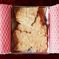 These sheets of pastry are made with maple syrup and sprinkled with maple sugar, then broken into shards.