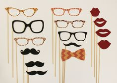 Mad Men Party on a Stick Kit - Photobooth Party Props. $45.50, via Etsy.