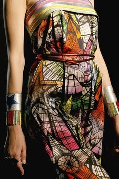 plus the wonderwoman reminiscent accessories (Jean Paul Gaultier / Spring 2013 RTW)