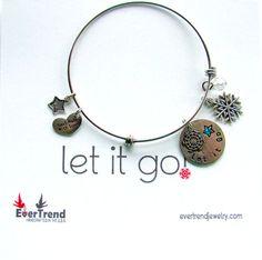 Let it Go Boxed Expandable Bangle Bracelet by ExpressioneryPendant