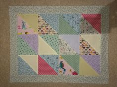 One of twin baby quilts - not yet finished.