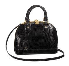 3bb6a622f LOUIS VUITTON ALMA EN PYTHON Bolsas De Couro, Louis Vuitton Alma, Sapatos Louis  Vuitton