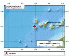 Terremoto de 3 grados en El Hierro      Lugar epicentro terremoto en El Hierro 18 noviembre      U...