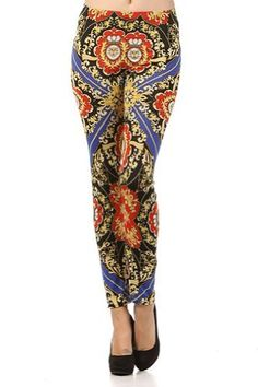 Kiwi Co. Brocade Printed Leggings Red Blue One Size Kiwi Co.. $16.00
