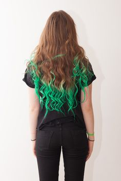this is my hair atm #greenhair #directions #longhair