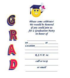 free printable graduation announcement templates