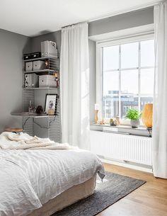 Bedroom | grey walls
