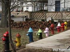 Topeka, KS Fire Hydrant Garden
