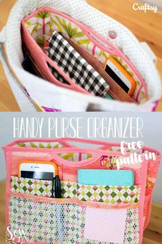 This free beginner sewing pattern will have your purse looking and staying neat and organized.