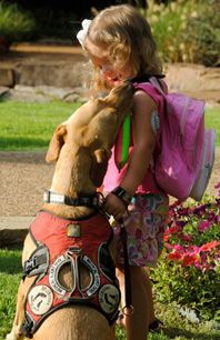Faith Wilson and her diabetes alert dog, Ruby - one of the most inspirational relationships I've ever seen