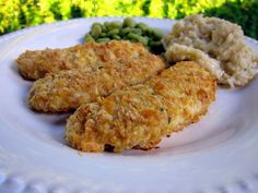 Cornflake Chicken Fingers | Plain Chicken. I used breadcrumbs instead of cornflakes. This recipe is a keeper!