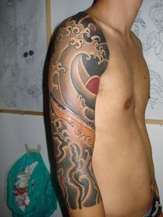 1000 images about tattoos on pinterest modern tattoos for Kanagawa wave tattoo