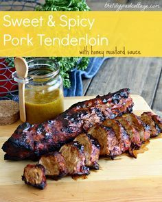Sweet & Spicy Pork Tenderloin, Spring Progressive Blog Hop @ The Lily Pad Cottage.