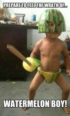 Marvel comics is searching for new heroes... Watermelon Boy!