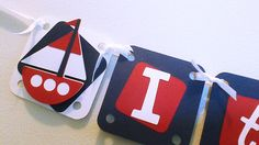 Birthday Banner It's your day banner Nautical Banner Sailboat Banner Red, White and Blue Banner Kid's Banner Kid's Birthday Banner Handmade on Etsy, $20.00
