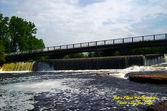 The Falls at chisholms Mill Ontario on the Moira River