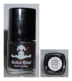 Dollish Polish 1, 2, Freddy's Coming for You - Red and Green Glitter Christmas