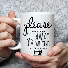 Quilting gifts, quilting socks, gifts for quilters, quilting presents, gifts to give quilters. coffee cups, tea cups, sayings, funny sewing sayings, sew funny http://amzn.to/2rfUDPu