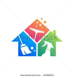 Find Cleaning Service Logo Design Idea Creative stock images in HD and millions of other royalty-free stock photos, illustrations and vectors in the Shutterstock collection. Cleaning Service Logo, Cleaning Business Cards, Business Logo, Business Card Design, House Cleaning Humor, Logan, House Wash, Kids Schedule, Photography Logo Design