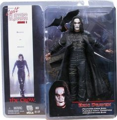 Cult Classics Series 1 The Crow Eric Draven Action Figure by NECA (Reel Toys) | $96.99 | features crow, flexible jacket, tombstone and graveyard base