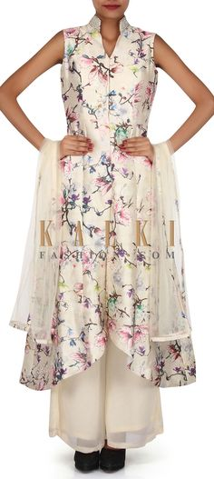 Buy Online from the link below. We ship worldwide (Free Shipping over US$100). Product SKU - 304778. Product Link - http://www.kalkifashion.com/cream-suit-featuring-in-digital-pint-only-on-kalki.html