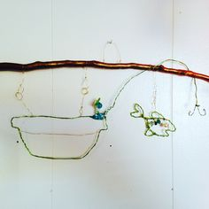 """""""Perspective """" 2016  fishing boat  Mixed media wire beads buttons Marna McManus  On Facebook @sunshowercreations Fishing Boats, Perspective, Mixed Media, Wire, Buttons, Facebook, Beads, Beading, Pearls"""