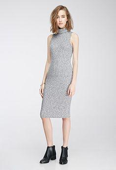 Marled Midi Turtleneck Dress | Forever 21 - 2049258125