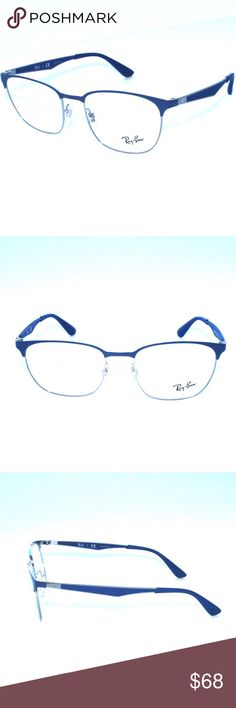 Ray-Ban RB6356 2876 52/18mm Blue/Gunmetal Frame Brand New 100% Authentic Ray-Ban RB6356 2876 52/18mm Blue/Gunmetal Frame Eyeglasses   Comes with Generic Case, NO Pouch Ray-Ban Accessories Glasses