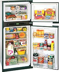 Norcold gas absorption RV refrigerator without ice maker, cubic feet are spacious, durable, and economical. Many safety features, such as the door open alarm ensure food quality Rv Parts And Accessories, Camper Parts, Refrigerator Freezer, Refrigerator Organization, Fridge Organization, Organization Ideas, Cubic Foot, Gas And Electric, Camper Trailers