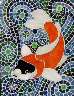 Koi Fish Mosaic by RuffinoGlassStudio on Etsy, $125.00