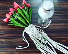 Table runner, Crochet table center piece will make your dining table special. Wedding Wraps, Wedding Art, Boho Wedding, Wedding Plants, Shabby Chic Lamps, Plant Covers, Bouquet Wrap, Crochet Table Runner, Wedding Decorations