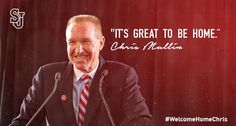 """It's great to be home."" ~Head Coach Chris Mullin #sjubb"