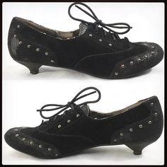 Steampunk Dreams. Studded Suede Kitten Heel Wingtips by LONDON UNDERGROUND. . DM for PayPal  . Ebay Link in Bio . @sandandbarb on Poshmark  . . . . . . . #londonunderground #shoes #suedeshoes #allblackeverything #genuineleather #gothiclolita #gothicshoes #romanticgoth #gothicstyle #goth #steampunk #corpgoth #forsale #discount #fashion #stylist #laidbackluxe #luxeforless #poshmarkstyle #poshmarkcloset #stylehunter #smartshopper #dealdiva #resale #bosslady #corporatestyle #officewear #poshmark…
