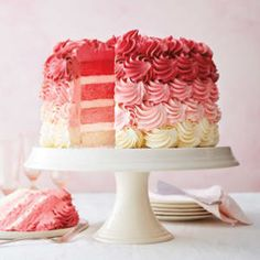 The Williams Sonoma Test Kitchen teaches you how to fix a leaning layer cake, how to make a naked cake, & easy layer cake decorating ideas. Food Cakes, Cupcake Cakes, Beautiful Cakes, Amazing Cakes, Plain Cake, Tall Cakes, Layer Cake Recipes, 3 Layer Cakes, Cake Chocolat