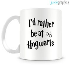 Harry Potter inspired 'I'd rather be at Hogwarts' by JuiceGraphics